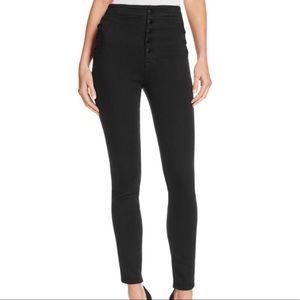 J Brand Natasha Sky High Skinny Black Jeans